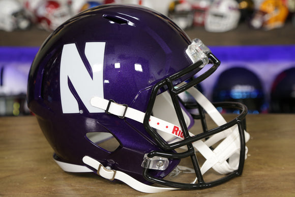 Northwestern Wildcats Riddell Speed Replica Helmet - Purple