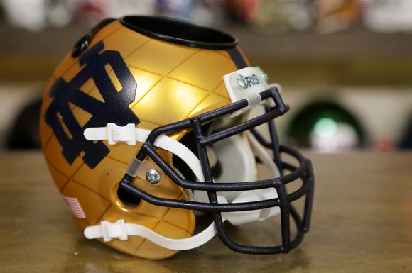 Notre Dame Fighting Irish Schutt XP Desk Caddie Helmet - Gold Navy
