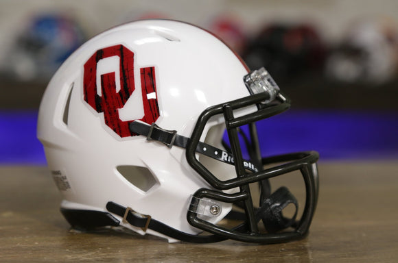 Oklahoma Sooners Riddell Speed Mini Helmet - Bring The Wood / White