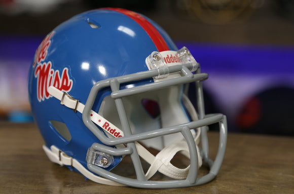 Ole Miss Rebels Riddell Speed Mini Helmet - Powder Blue