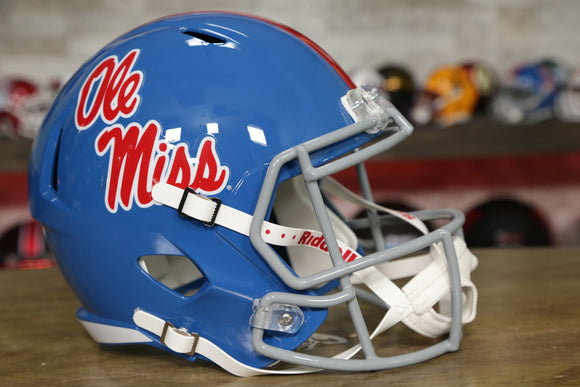 Ole Miss Rebels Riddell Speed Replica Helmet - Powder Blue