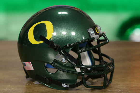 Oregon Ducks Schutt XP Mini Helmet - Metallic Green