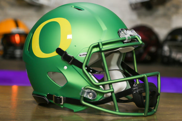 Oregon Ducks Riddell Speed Authentic Helmet - Apple Green