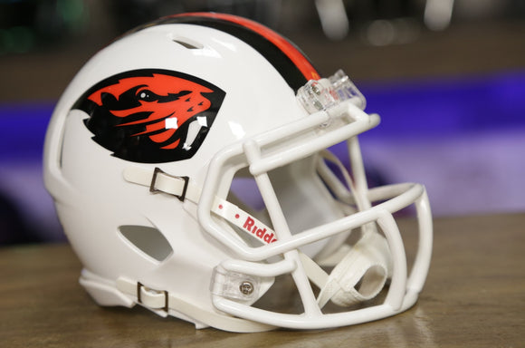 Oregon State Riddell Speed Mini Helmet - White