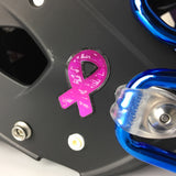 Pink Helmet Decals Chrome