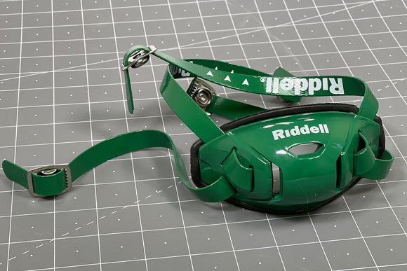 Riddell Hard Cup Chinstrap Buckles - Kelly Green
