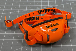 Riddell Hard Cup Chinstrap Buckles - Orange