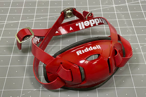 Riddell Hard Cup Chinstrap Buckles - Scarlet