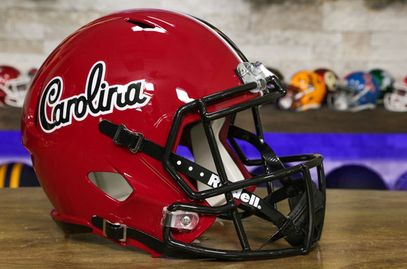 South Carolina Gamecocks Riddell Speed Replica Helmet Garnet Script