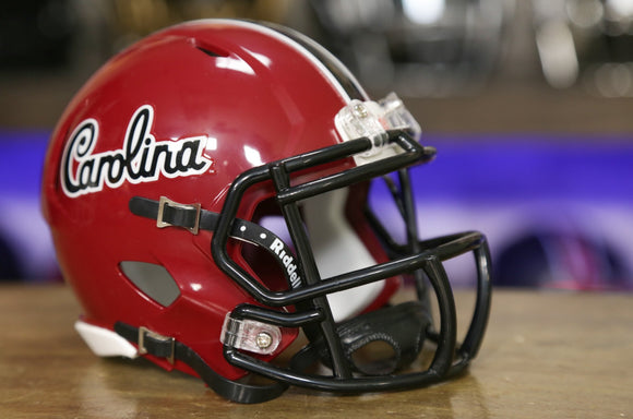 South Carolina Gamecocks Riddell Speed Mini Helmet - Script