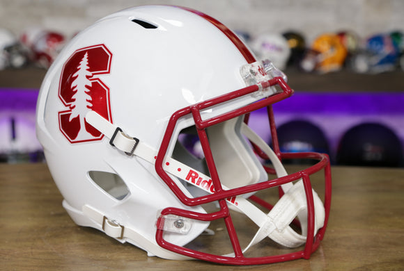 Stanford Cardinal Riddell Speed Replica Helmet - White