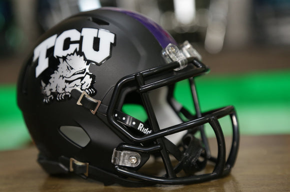 TCU Horned Frogs Riddell Speed Mini Helmet - Flat Black