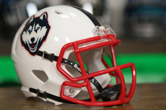 UConn Huskies Riddell Speed Mini Helmet - White
