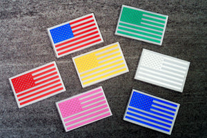 Chrome US Flag Helmet Decal