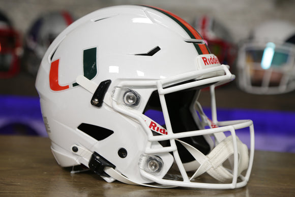 Miami Hurricanes Riddell SpeedFlex Authentic Helmet