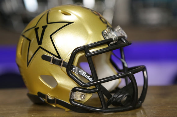 Vanderbilt Commodores Riddell Speed Mini Helmet - Gold Anchor