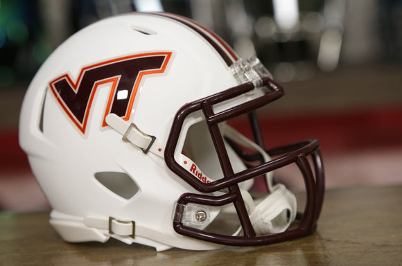 Virginia Tech Hokies Riddell Speed Mini Helmet - Flat White