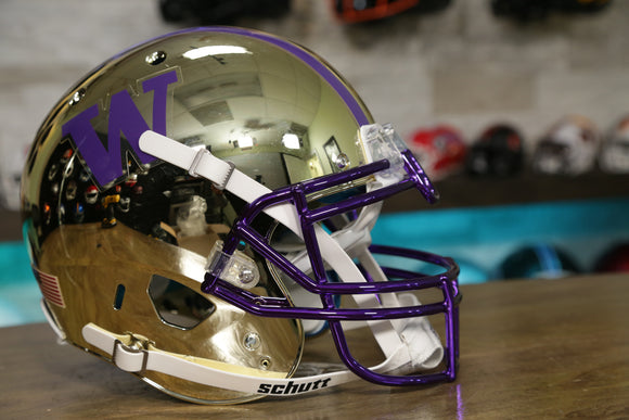 Washington Huskies Gold Chrome Schutt XP Authentic Helmet