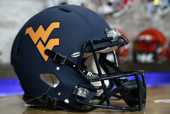 West Virginia Mountaineers Riddell Speed Authentic Helmet Matte Navy