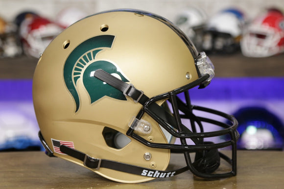 Michigan State Spartans Schutt XP Replica Helmet - Matte Gold