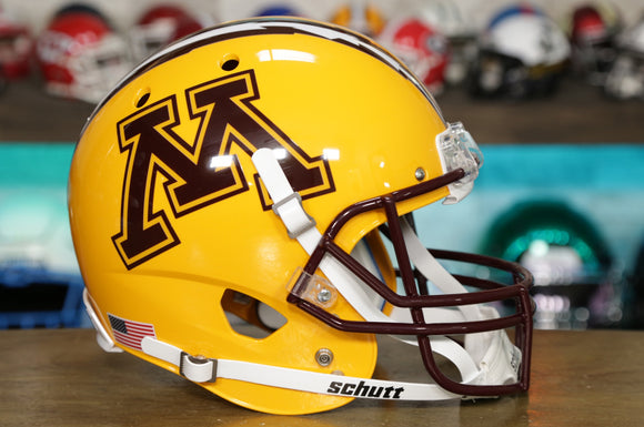 Minnesota Golden Gophers Schutt XP Replica Helmet - Yellow w/Oversized Logo