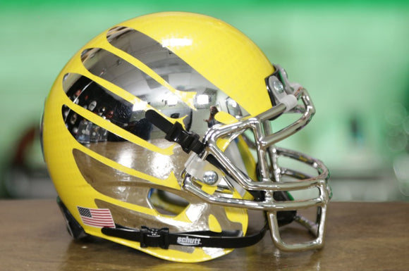 Oregon Ducks Schutt XP Mini Helmet - Yellow w/Wings