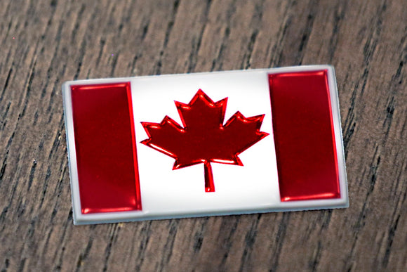 EmbossTech Canada Flag | Raised Helmet Decal