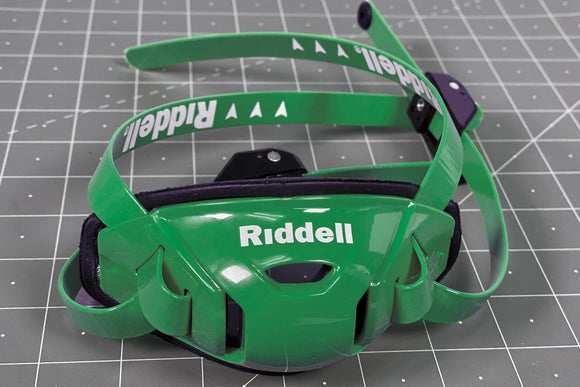 Riddell Speedflex Hard Cup Cam Loc Chinstrap - Kelly Green