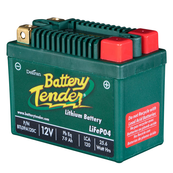 7-9 Amps, 12V Lithium Iron Phosphate - Motorcycle Battery (BTL09A120C)