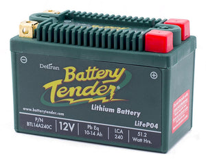 10-14 Amps, 12V Lithium Iron Phosphate - Motorcycle Battery (BTL14A240C)