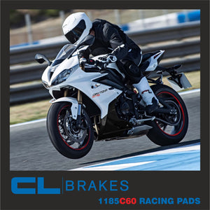 1185C60 RACING PADS FOR TRIUMPH DAYTONA R FRONT 2012-UP