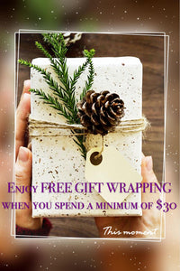 FREE GIFT WRAPPING SERVICE IS AVAILABLE !!