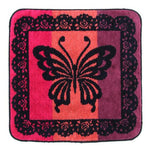 Butterfly handkerchief towel - Brown
