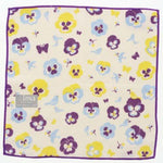 "+ Ima"" WAFUKA Handkerchief - Pansy and Bird"