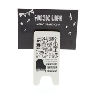 Music life memo stand clip