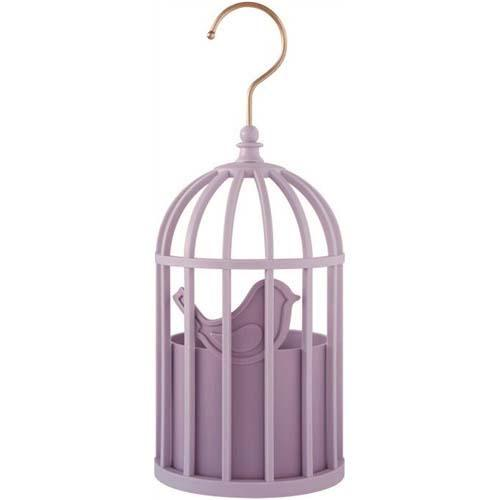 Hanging storage - Purple birdcage