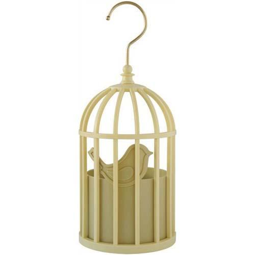 Hanging storage - Yellow birdcage
