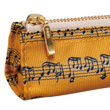 Music Score Pencil Case - Gold