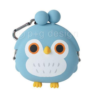 mimi OWL Silicone Coin Bag by 3D POCHI FRIENDS - Blue