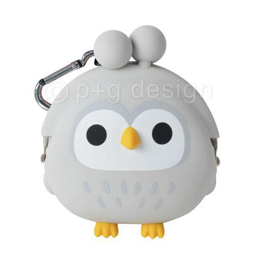 mimi OWL Silicone Coin Bag by 3D POCHI FRIENDS - Grey