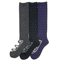 Kashi mixed upper dot high socks - Charcoal grey