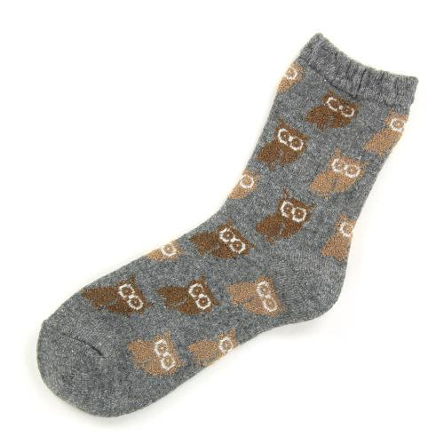 Owl pattern socks - Grey