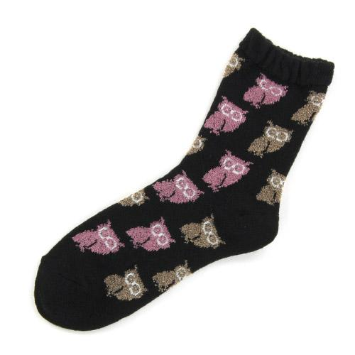 Owl pattern socks - Black