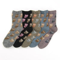 Owl pattern socks - Sky blue