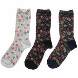 Flower pattern socks - Grey