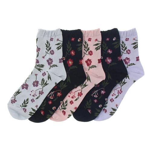 Rose pattern socks