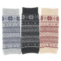 Arm & leg warmer snow pattern - Charcoal grey