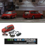 BM Creations JUNIOR 1/64 Mitsubishi Legnum Vr4 RED RHD with Extra Wheels, Lowering Parts 64B0154