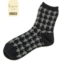 Thousand birds pattern socks - Black