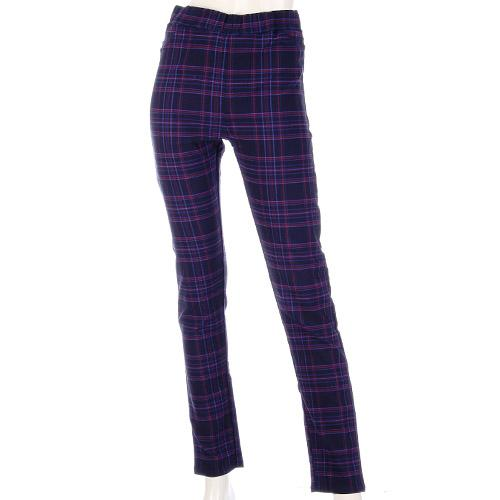GUNZE M Navy Checker Brushed Legging